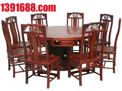 红木圆台餐桌