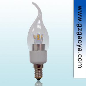 水晶吊灯完美搭配光源  3W E14 LED蜡烛灯泡 拉尾泡
