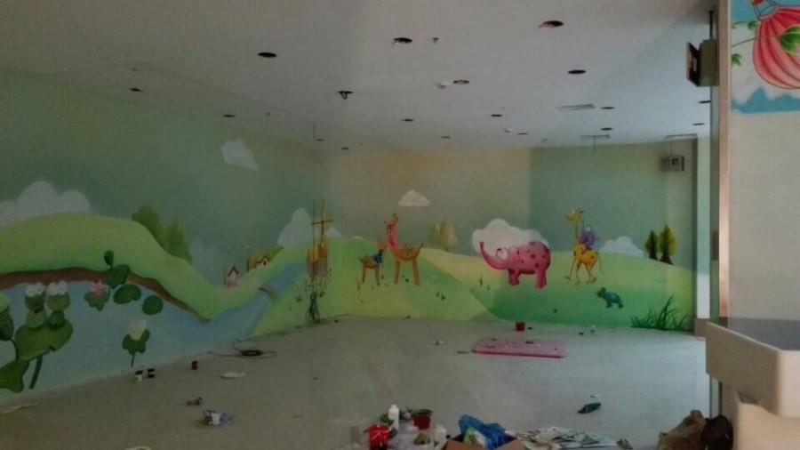 广州深圳幼儿园儿童乐园彩绘什么价格哪家公司质量好放心